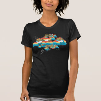 Wonder de Regenboog van de Vrouw betrekt Patroon T Shirt