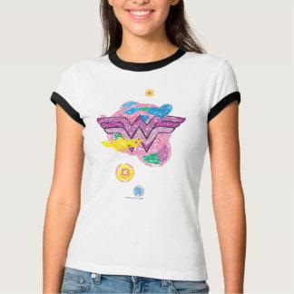 Wonder het Kleurrijke Gekrabbel van de Vrouw T Shirt