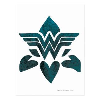 Wonder het Logo van Grunge van de Vrouw Briefkaart