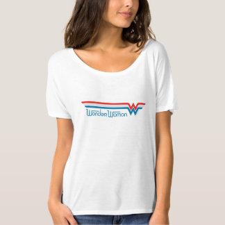 Wonder het Rode Witte en Blauwe Logo van de Vrouw T Shirt