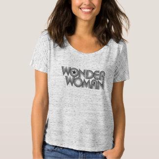 Wonder Logo 3 van de Vrouw B&W T Shirt