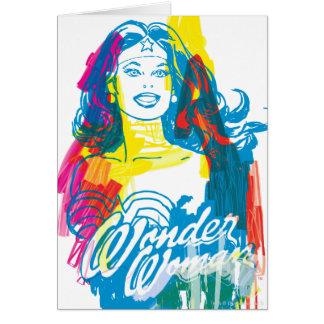 Wonder Vrouw Kleurrijke 1 Kaart
