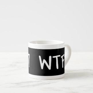 WTC 7 WTF ? Lettrage blanc sur le noir Tasse Expresso
