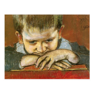 Wyspianski, étude d'un enfant - Mietek, 1904 Carte Postale