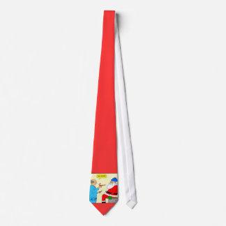 x85 Père Noël va au docteur Cartoon Christmas Tie Cravate Personnalisée
