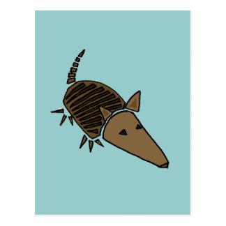 XX art génial de tatou Carte Postale