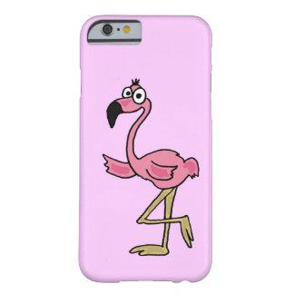 XX de grappige Roze Cartoon van de Flamingo Barely There iPhone 6 Hoesje