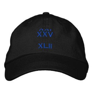 XXI XXV     XLII CASQUETTE BRODÉE