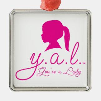 Y.A.L.  Vous êtes Madame Ornement Carré Argenté
