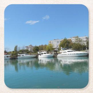 Yachts en Turquie Dessous-de-verre Carré En Papier