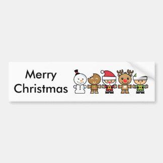 Yay pour des caractères de Noël de la couleur cinq Autocollant De Voiture