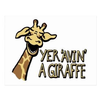 """YER """"avin"""" une carte postale d'humour de cockney"""