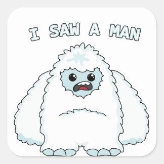 Yeti - j'ai vu un homme sticker carré