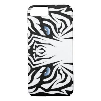 Yeux blancs de tigre coque iPhone 7