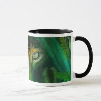 Yeux de jungle - tasse d'art de Jaguar
