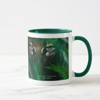 Yeux de jungle - tasse d'Ocelot et de panthère