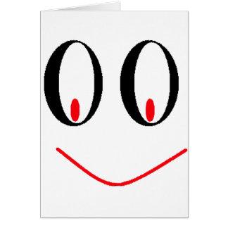Yeux ivres de pays avec le sourire souriant d'un carte