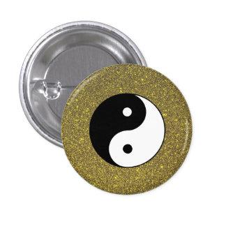 Yin et Yang Badge Rond 2,50 Cm