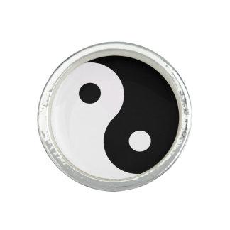 Yin et Yang Bagues Avec Photo