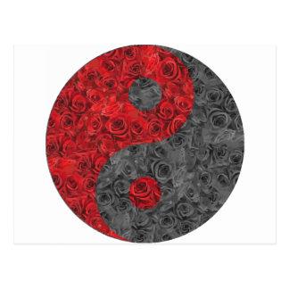 Yin rose Yang Carte Postale