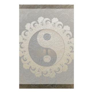 Yin Yang avec l'arbre de la vie par Amelia Carrie Papier À Lettre Personnalisé