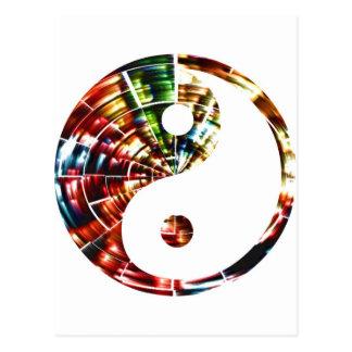 Yin Yang - conception rouge d'étincelle Carte Postale