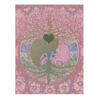 Yin Yang dans le rose Carte Postale