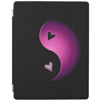 yin yang hart - roze iPad cover