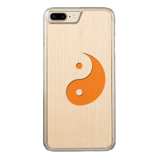 Yin Yang - orange 1 Coque Carved Pour iPhone 7 Plus