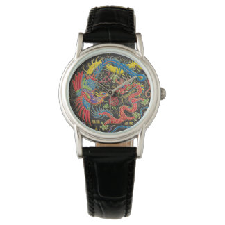 Yin Yang Phoenix et montre de dragon Montres