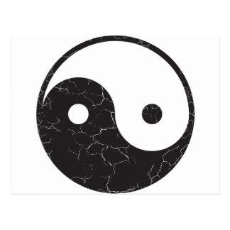 Yin Yang - texture affligée Carte Postale