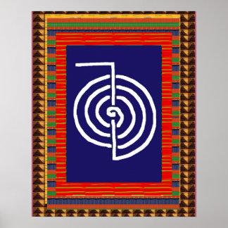 Yoga d'ART curatif de symbole de REIKI :  le Poster