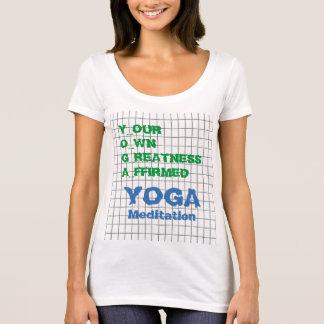 YOGA votre propre texte de sagesse de citation T-shirt
