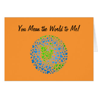 You Mean the World to me la carte