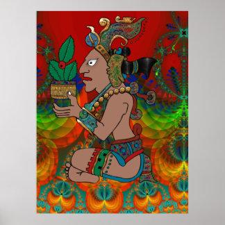 Yucatan Mexicano psychédélique Visiones Poster