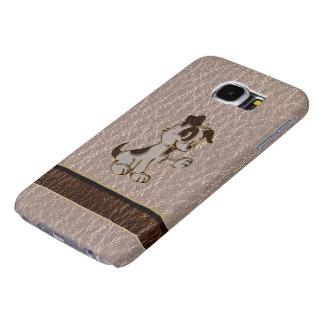 Zachte de Hond van de leder-blik Samsung Galaxy S6 Hoesje