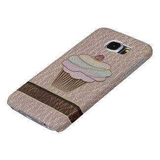 Zachte het Baksel van de leder-blik Samsung Galaxy S6 Hoesje