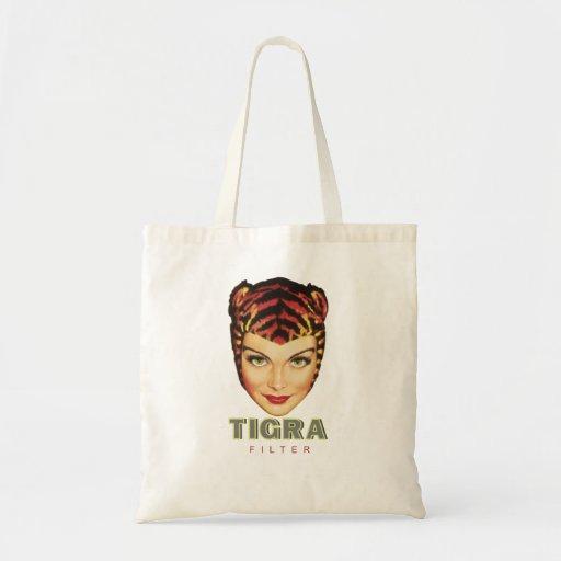 zak sigaret tigra handbag canvas tas