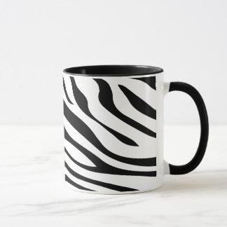 Zebbra barre noir et blanc mug