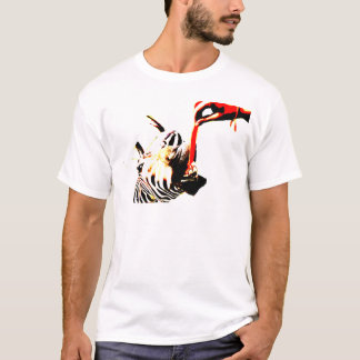 Zèbre avec l'attitude t-shirt