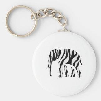 Zèbre d'éléphant : Mâche- sauvage Porte-clé Rond