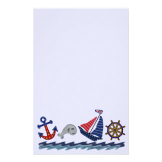 Zeevaart Patroon Briefpapier