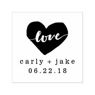 Zegel van het Huwelijk van de liefde de Hart Zelfinktende Stempel