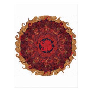 ZEN bouddhiste de rouge de MANDELA Carte Postale