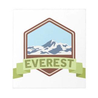Zet Everest op Notitieblok