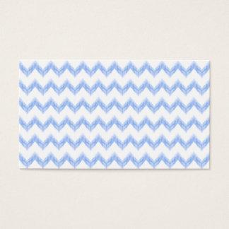 zigzag bleu de chevron d'aquarelle originale cartes de visite