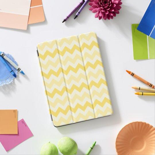 Zigzag jaune de 3 tons protection iPad pro