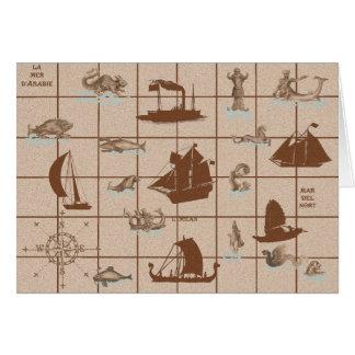 Zij die naar het Zee in Schepen dalen Briefkaarten 0
