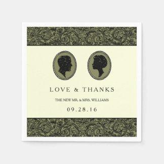 Zijn & van haar het Collectie van het Huwelijk van Papieren Servetten