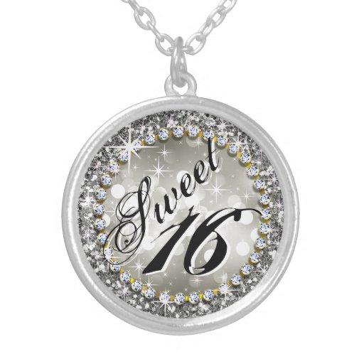 Zilver van Viering 16 van Glam Bling van Glitz het Gepersonaliseerde Ketting